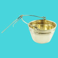 Antique French Sterling Silver Tea Strainer, Classic Design
