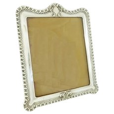 Antique English Sterling Silver Picture or Photo Frame, Large Size Victorian
