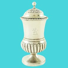 Georgian Sterling Silver Pepper Pot or Shaker, London 1829