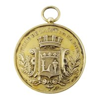 Antique French Silver & Gilt Medal or Award