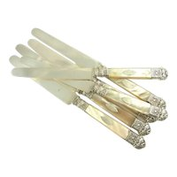 Antique French Silver & Mother of Pearl Knives, Circa 1820
