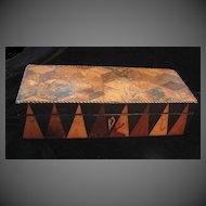 Antique 19th C Century GEORGIAN English Tunbridgeware Marquetry Box MAGNIFICENT!