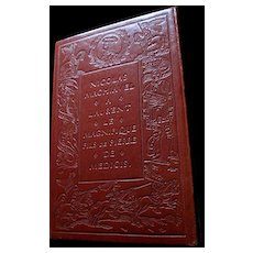 Vintage LUXURY Tooled LEATHER De Bonnot Edition of The Prince by Machiavelli WOW!