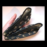 Antique Chinese Qing c1900 Embroidered Bound Feet Shoes Slippers Remarkable Condition!