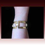 Vintage Guy LAROCHE Paris Large 2 Sides Link Bracelet Signed Very COUTURE!