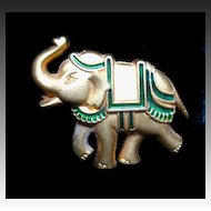 Vintage SCHERRER Pin Brooch Small Animal Elephant For Men Women Signed ADORABLE!