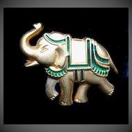 Vintage SCHERRER Pin Brooch Small Animal Elephant For Men Women Signed ADORABLE!