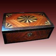 Antique VICTORIAN Tunbridge Inlaid Box 19th C Century Tunbridgeware Marquetry Casket STUNNING!