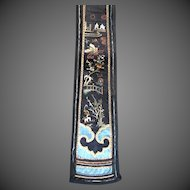 Antique Chinese Qing FIGURAL Embroidery 19th C Century RARE