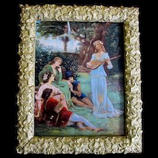 Antique French ART NOUVEAU Jugendstil AUTHENTIC 19th C Painting Signed DIVINE!