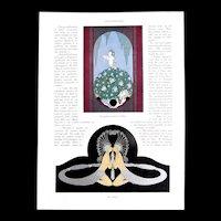 Vintage ART DECO 20s ERTE French Magazine Prints Very RARE!