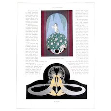 Vintage ART DECO 20s ERTE French Magazine Prints Very RARE!