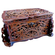 Antique FRENCH Art Nouveau Box Casket 19th C DIVINE!