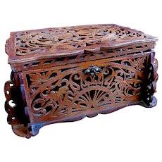 Antique FRENCH Art Nouveau Box Casket 19th C DIVINE!