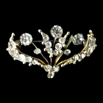 Antique Victorian 19th C Pin Brooch Rose Cut REMARKABLE SPARKLE!