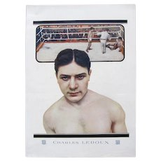 Vintage Art DECO 20s Large French Print BOXER Champion LEDOUX Gift Man FUN PIECE!