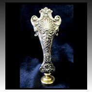 Antique FRENCH Seal Napoleon III Silver on Bronze 19th C Century Delightfully ORNATE!