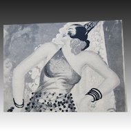 Vintage 30s Art DECO Print Outrageous Spanish Dancer Signed World FAMOUS CAPPIELLO!