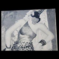 Vintage 30s Art DECO Print Outrageous Spanish Dancer Signed World FAMOUS CAPPIELLO!