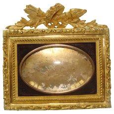 Antique French gilt bronze  frame, 19th century