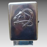 Antique Russian silver cigarette case