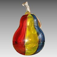 Glass pear by Archimede Seguso(1909-1999) dated at about 1970
