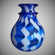 """Magnificent Murano blue glass vase """" La Fenice"""" by Archimede Seguso 1909-1999"""