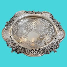 Antique Sterling silver basket, marked Mappin & Webb, 19th century