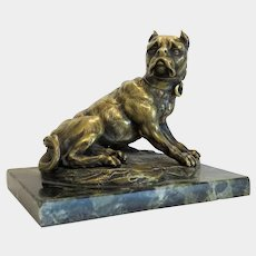 Antique French Bronze paperweight figuring a Dane, 19th century