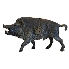Vienna Bronze figure of a boar, early 20th century