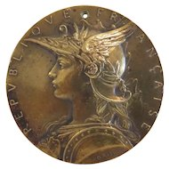 French Gilt Bronze Medal, ca. 1900