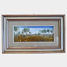 Oil painting depicting a landscape, mid 20th century