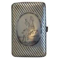 Antique silver and Niello cigarette case, ca. 1867