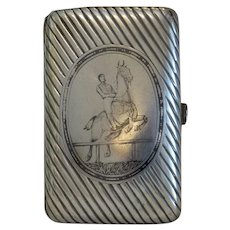 Antique silver and Niello cigarette case, ca. 1867