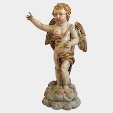 Antique lime wood figure, 18th century