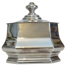 Vintage Octagonal sugar bowl with cover, ca. 1970