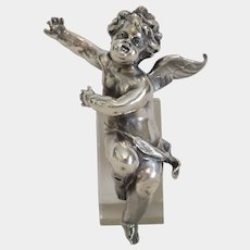 Antique angel figure, silver plated, 19th century