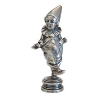 Antique silver clown figure, 19th century