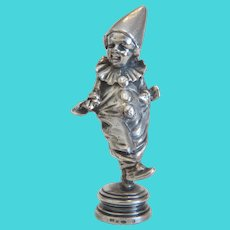 Antique silver clown figure, 19th century
