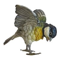Vienna Bronze figure of a Chicadee, stamped, ca. 1920
