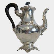 Antique French silver teapot, Paris 19th century