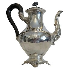 Antique French silver teapot, Paris 19th century