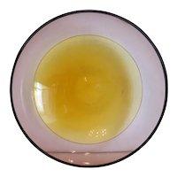Murano Alfredo Barbini glass bowl, signed, ca.1970