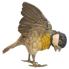 Vienna Bronze figure modelled and cast as a beautiful titmouse, early 20th century