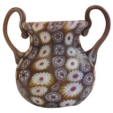 Murano Mille Fiori vase with Murrine work, about 1920