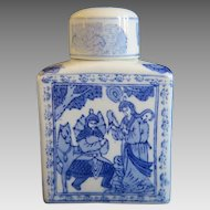 Chinese porcelain tea caddy with lid ,early 20th century