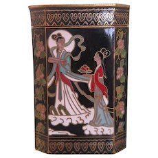 Exquisite Japanese Cloisonne box ,early 20th century