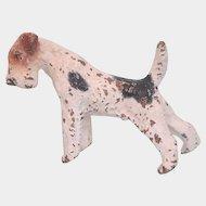 Antique Vienna Bronze figure of a  white Fox Terrier,19th century
