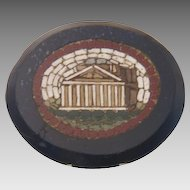 Rare Grand Tour double sided Roman Micro Mosaic plaque, 19th century