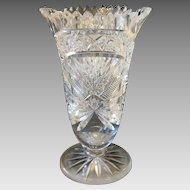 Bohemian lead crystal vase dated at ca.1920